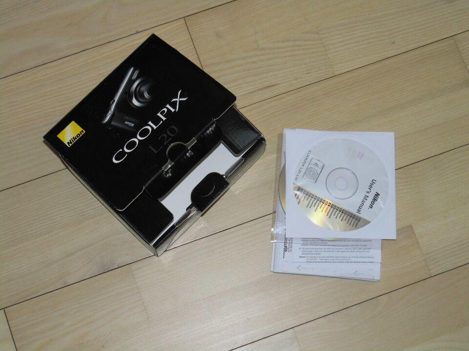 Nikon Nikon Coolpix L20, 10 megapixels, 3,6 x optisk zoom