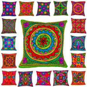 40cm-Multicoloured-Suzani-Wool-Embroidered-Mirror-Ethnic-Cushion-Covers-16-x16