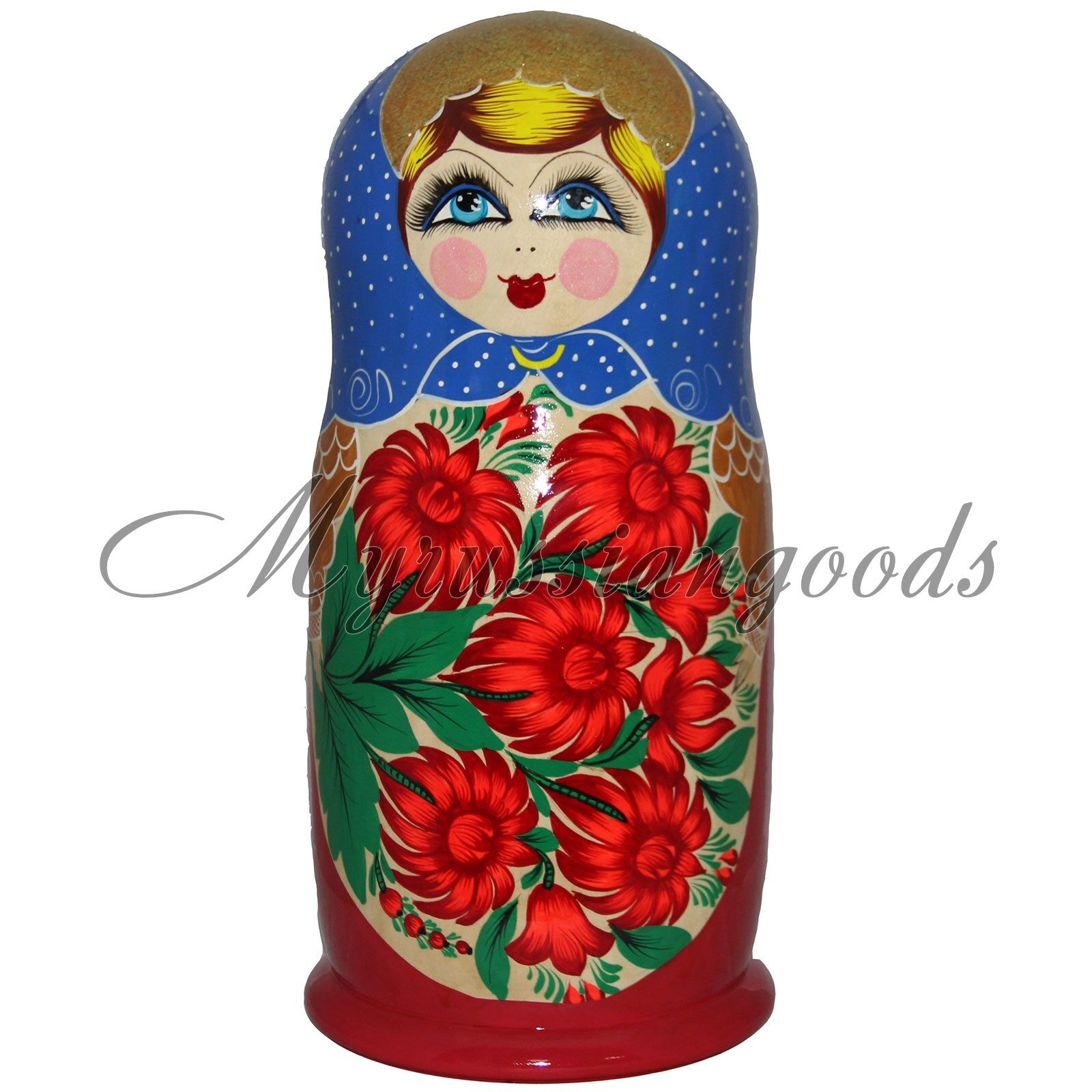 Traditional Russian doll 69 cm 11 kg  50 pc Handpainted babushka doll Matryoshka