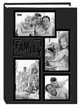 Family Photo Pocket Album 300 Acid Free Pages Leatherette Frame Collage Cover