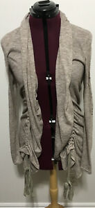 Miss Me Cardigan Duster Size S Womens Brown Tan Long Sleeve Open Front Bling New