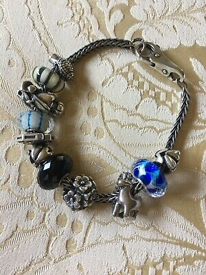 AUTHENTIC  TROLLBEADS 11322-11 Number 11 Silver Bead