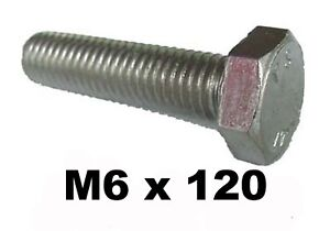 M6-x-120-Stainless-Steel-Hex-Bolts-Set-Screw-6mm-x-120mm-Stainless-Bolt-DIN933