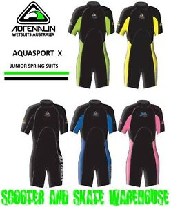 c513ff00c0 Image is loading NEW-Adrenalin-Kids-Springsuit-Wetsuit-Short-Sleeve-amp-