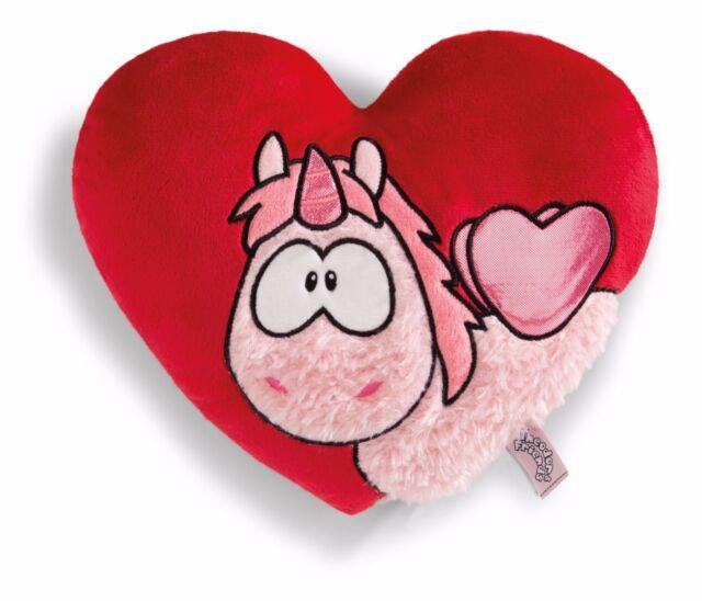 Nici 41785 Herzförmiges Kissen mit Einhorn Merry Heart