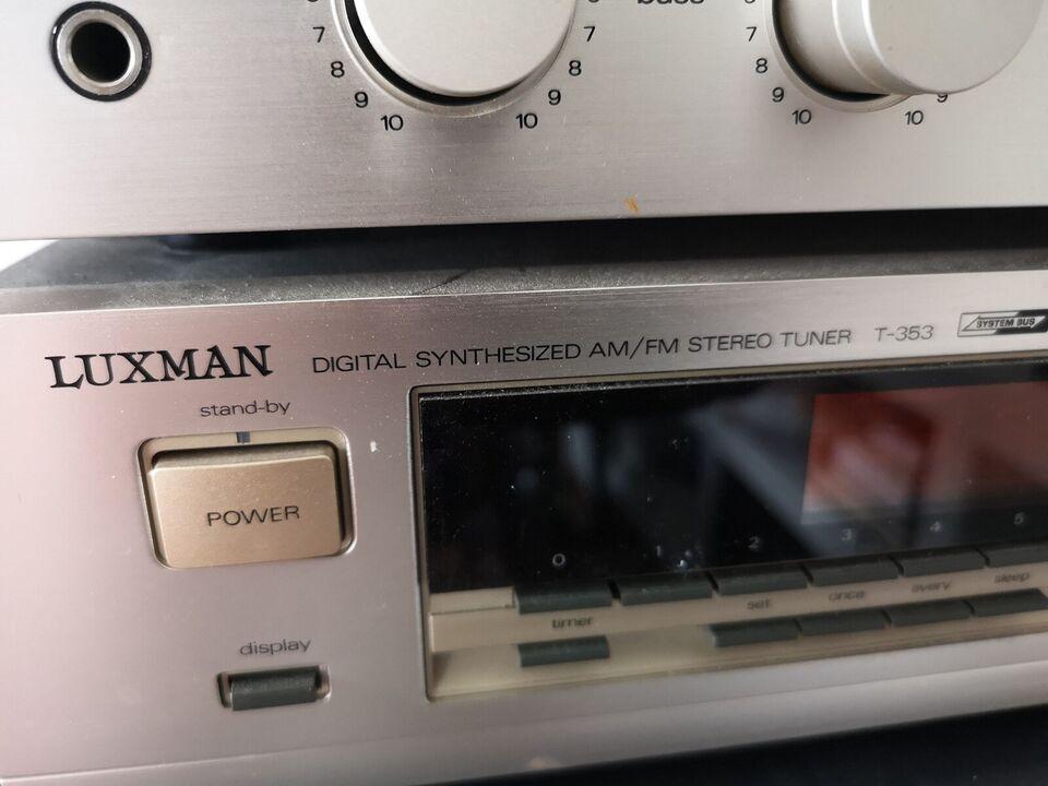 Stereoanlæg , Luxman, L114A og T353