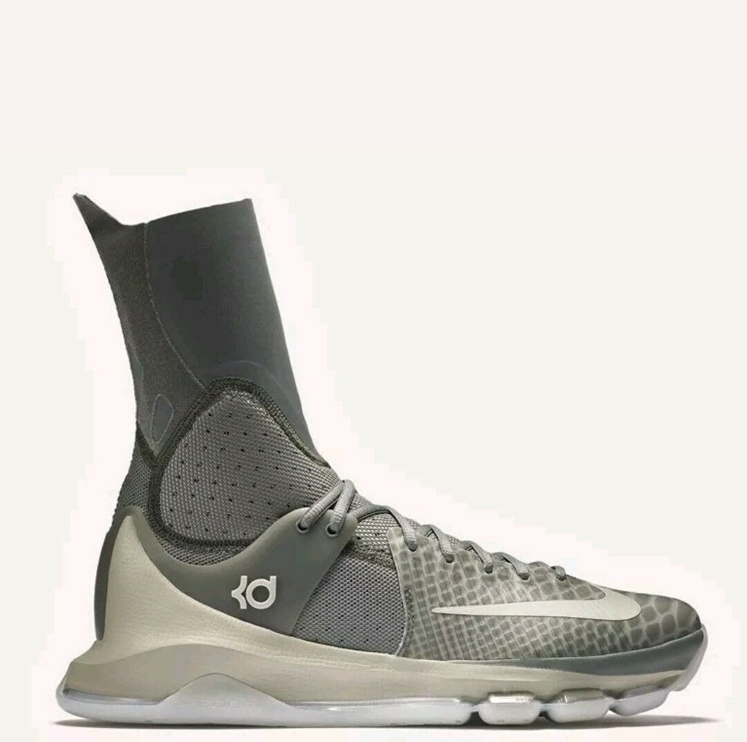NIKE KD 8 ELITE KEVIN DURANT Mens 834185 001 Tumbled Grey NEW 11.5