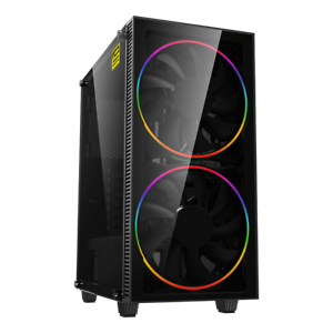 GameMax-ATX-Mid-Tower-A363-TB-Gaming-PC-Desktop-Computer-Case-W-RGB-LED-Fans