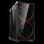 GameMax-ATX-Mid-Tower-A363-TB-Gaming-PC-Desktop-Computer-Case-W-RGB-LED-Fans miniature 1