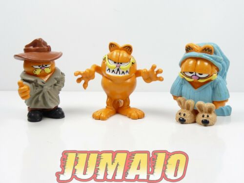 Pyjama Garfield effrayant FIG7 lot 3 figurines PVC PAWS MD TOYS Détective