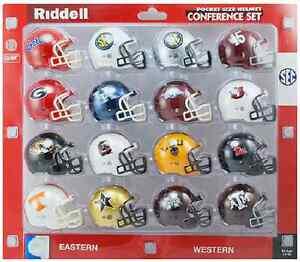 SEC-College-Football-2-034-RIDDELL-Pocket-Pro-Mini-Helmets-Set-NEW-NCAA-Gift-Toy