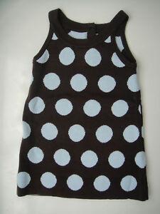 Gymboree NWT GIRLS BEST FRIEND Sweater Jumper Dress Dot Brown Light Blue 2 3