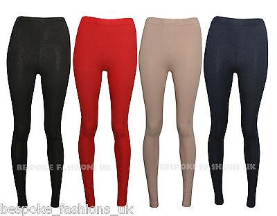 New Womens Denim Look Jeggings Leggings Black And Blue Size 8-14