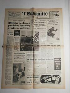 N390-La-Une-Du-Journal-L-039-humanite-5-Janvier-1968-Sud-Vietnam