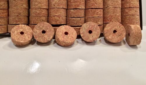 "Cork Rings 50 Deep Grain Red Burl 1 1//4/"" x 1//2/"" x1//4/"" Hole"