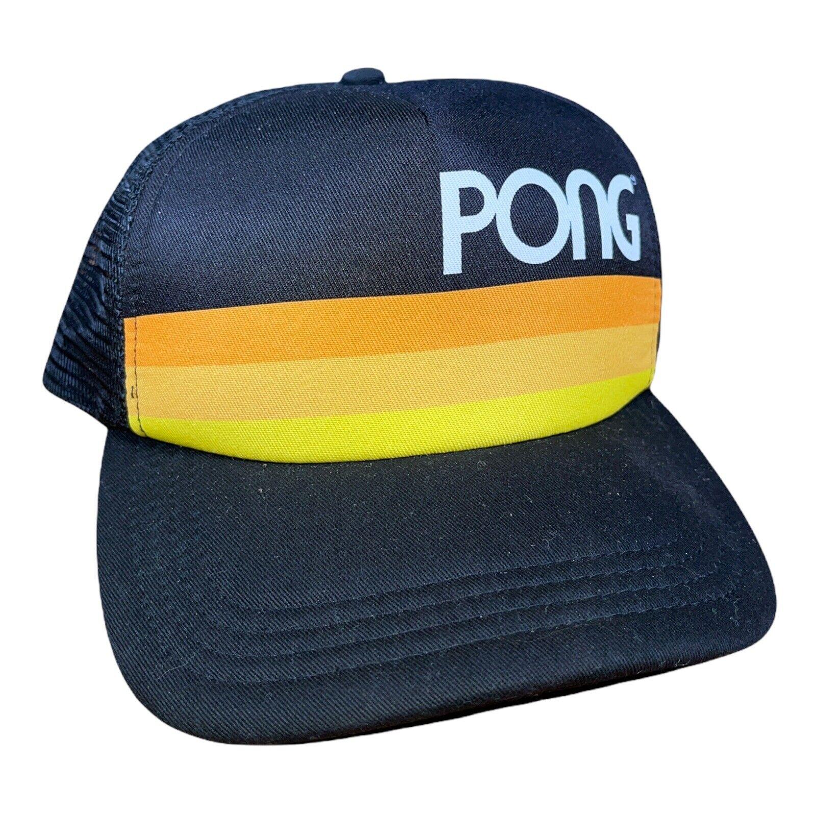 !! rara!!! Atari Pong Camionero Sombrero Gorra Ajustable Gorra De Malla Trasera H3 Headwear