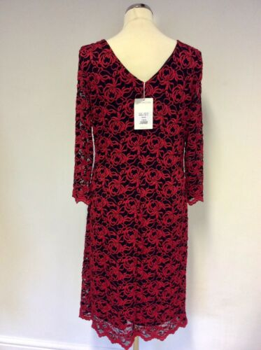 Red Dress Bnwt Lace Rrp £190 Size amp; Gina 18 Black Bacconi ffwx4qgO