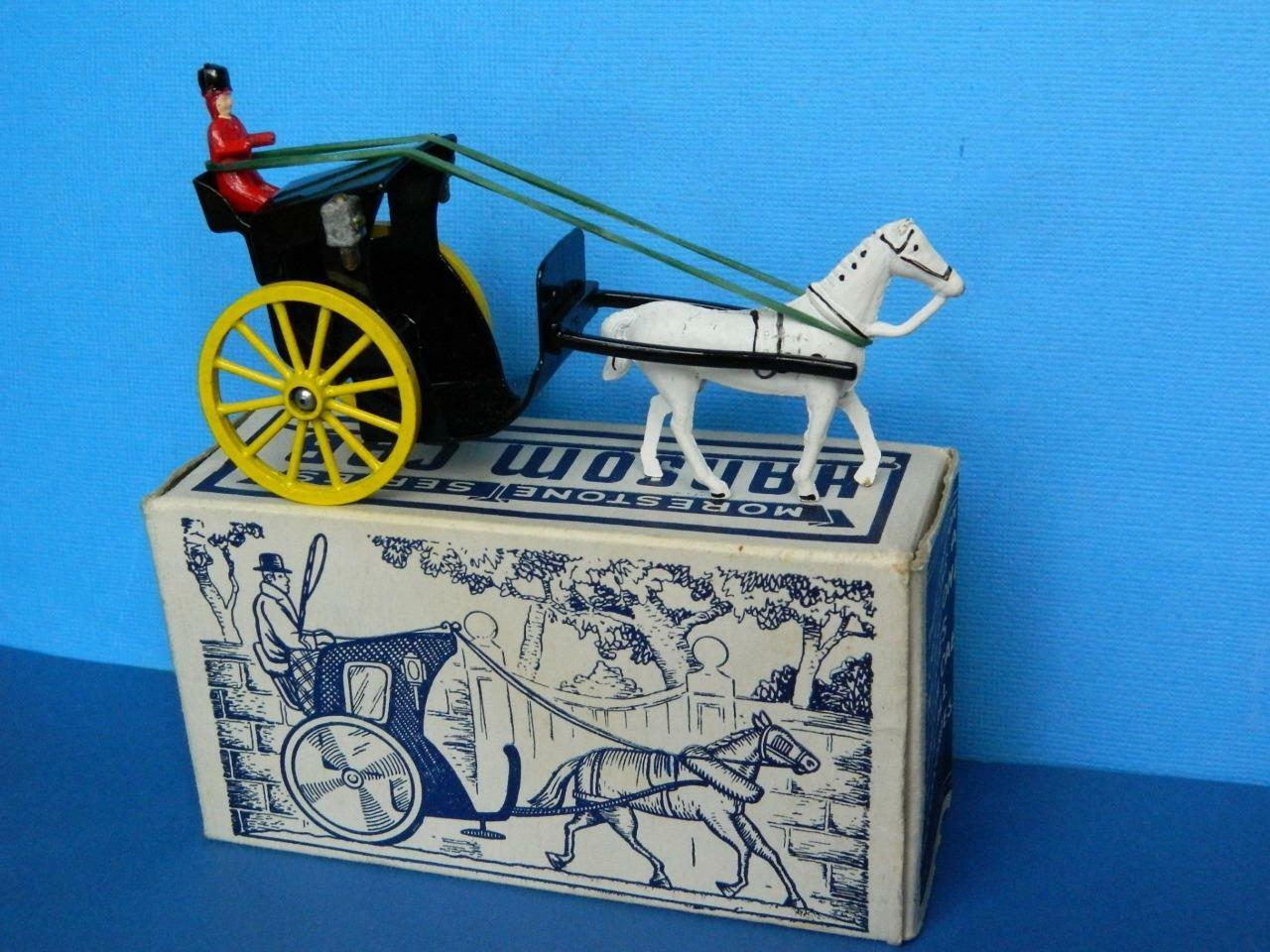 MORESTONE SERIES (BUDGIE) 1949 BOXED DIECAST HORSE DRAWN HANSOM CAB SET
