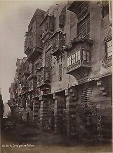 Egitto Cairo Una Strada Quartier Touloun Stampa Verso 1890 IN Piccolo Formato