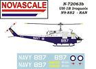 RAN UH-1B Huey Mini-Set Decals 1/72 Scale N72063b