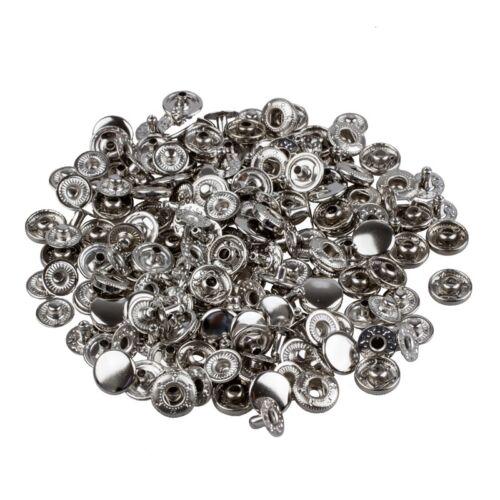 50 Set Metall Kein Naehen Druckknoepfen Tasten Druckknopf Popper 10mm