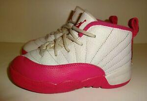 10 M US Toddler Jordan Retro 12Rush Pink Black//Dark Grey-Rush Pink TD