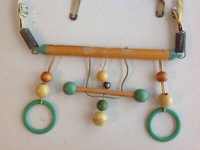 VINTAGE 1950's WOODEN BABY STROLLER / CRIB HANGING TOY | eBay