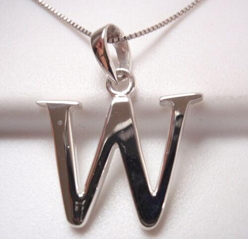 "The Letter /""W/"" Pendant 925 Sterling Silver Corona Sun Jewelry w"