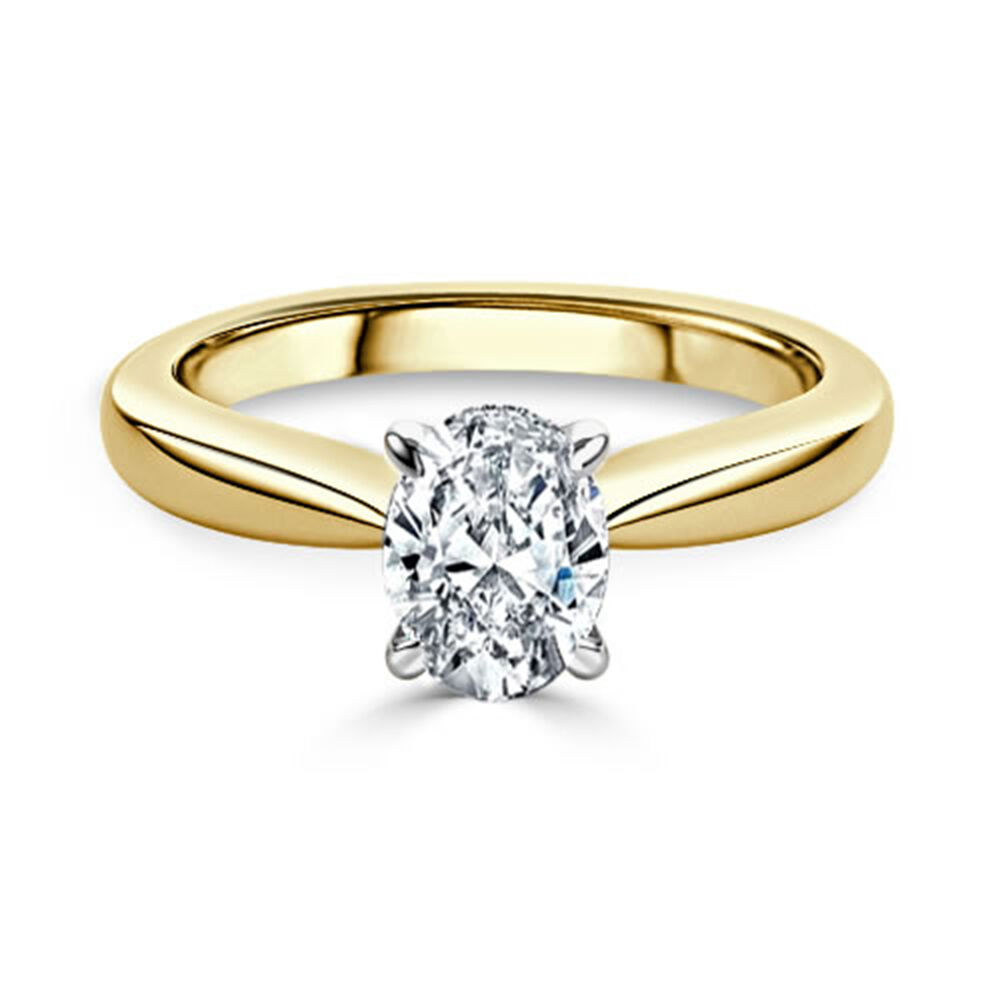 D VVS Solitaire 2.00Ct Diamond Engagement Ring Size 6 Hallmarked 14K Yellow gold