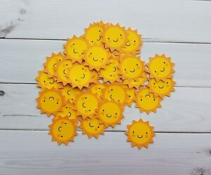 Sun Die Cuts, Embellishments<wbr/>, Punchies, Punches, Toppers, Favors, Scrapbooking