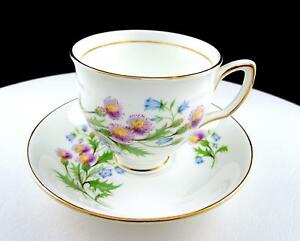 """DUCHESS CHINA ENGLAND #794 BLUE BELLS FLORAL 2 7/8"""" CUP AND SAUCER SET"""
