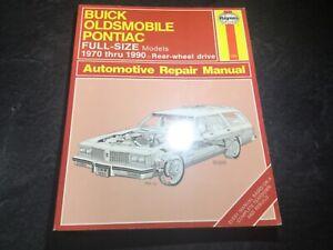 1970-90-RWD-Pontiac-Buick-Olds-Haynes-Manual-Electra-Parisienne-Delta-88-LeSabre