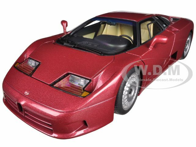 BUGATTI EB110 GT DARK RED 1 18 DIECAST MODEL CAR BY AUTOART 70977