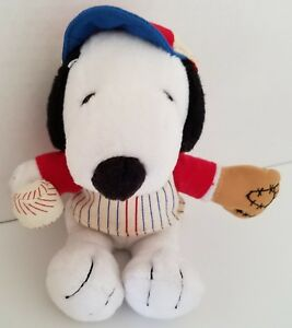 Peanuts Snoopy Stuffed Animal Toy Baseball Met Life 6 Snoopy 1 Hat