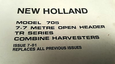 1981 New Holland 705 Combine Harvester Parts Book Farming & Agriculture