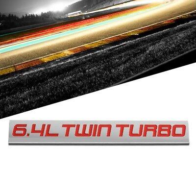 Black Red /& Black Letter Chrome Finish Metal Emblem 3.5L Twin Turbo Badge
