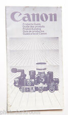 Canon 1983 Products Guide w/ F1 AV1 GIII17 514xl T50 A1 - Multilingual - USED GD