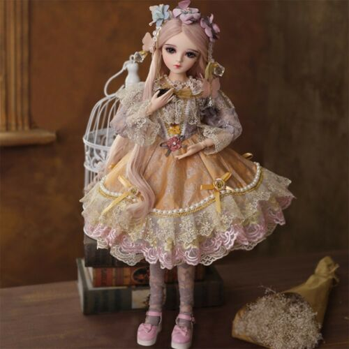 60cm BJD Doll 1//3 Girl Dolls Face Makeup Pretty Clothes Changeable Eyes Gift Toy
