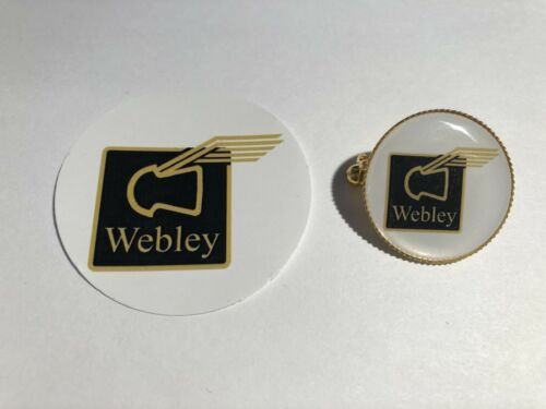 Webley fucili ad aria compressa Placcato Oro Badge Adesivo Cellulare /& Free