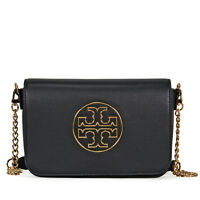 Tory Burch Isabella Leather Clutch (Black)