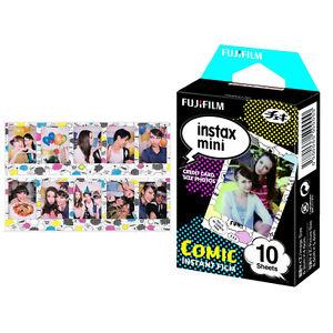 10Pcs Fujifilm Instax Mini Comic Film For Fuji 7s 8 25 70 90 Instant Camera SP-2