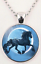necklace pendant watch NEW Silver Stallion HORSE Stainless Steel Necklace Leather Rope Chain USA SELLER Fashion Jewelry