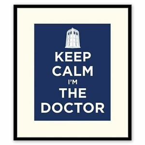 DR-WHO-OFFICIAL-FRAMED-ART-BEVELED-MATTED-17x21-034-TARDIS-KEEP-CALM-I-039-M-THE-DOCTOR