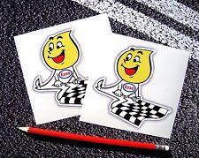 ESSO Flame Person Chequered Flag classic Stickers Retro Vintage F1 Lemans f1