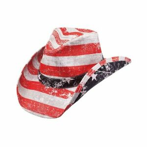 NEW-PETER-GRIMM-RED-PATRIOT-AMERICANA-POCKET-LINED-DRIFTER-COWBOY-HAT