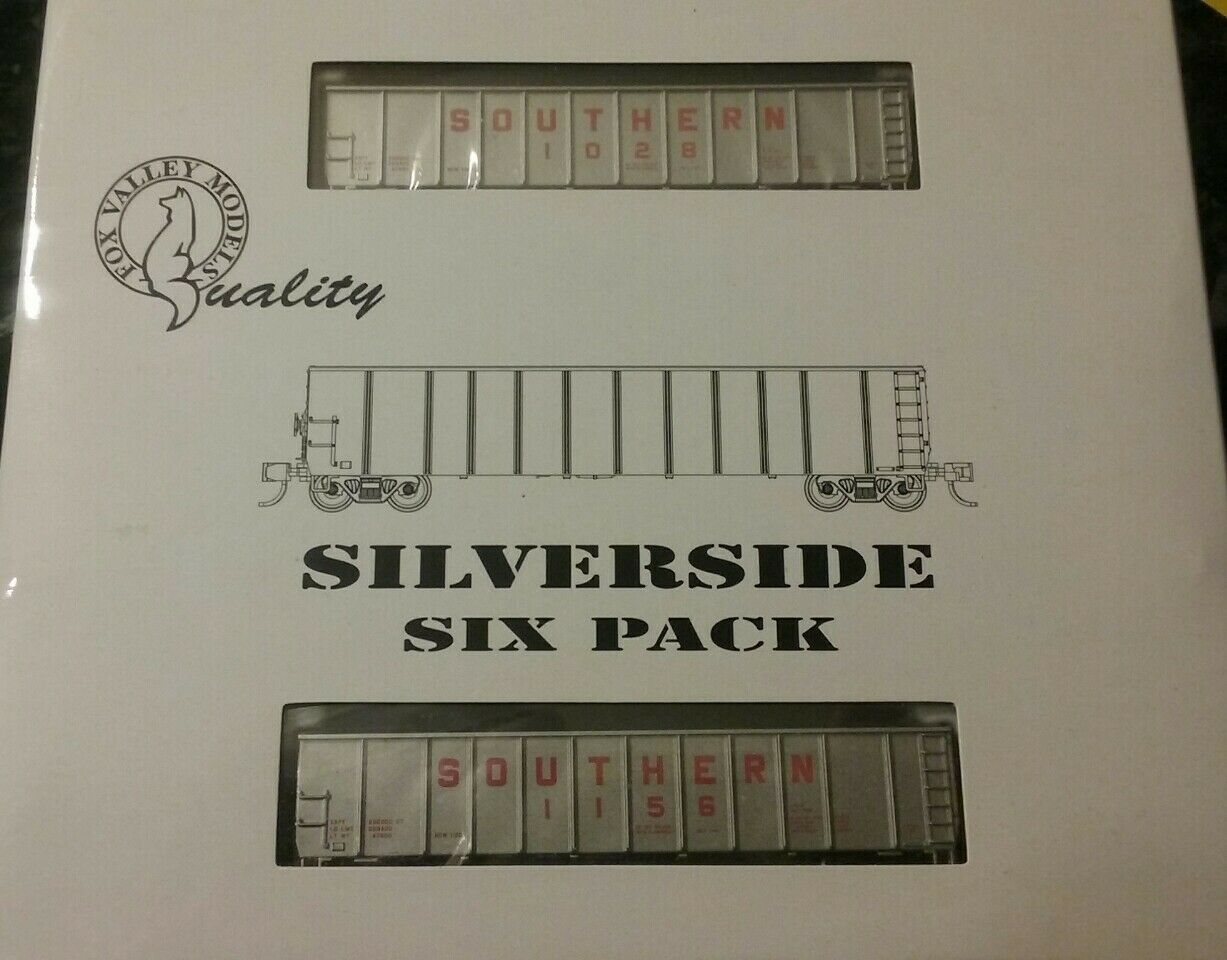 Fox Vtuttiey FVM 83405 Southern argento Side Coal Gondolas 6Pack  3 N Scale