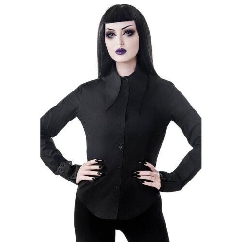 Killstar Gothic Goth Okkult Hemdbluse Bluse Hemd Darby Vampir Shirt
