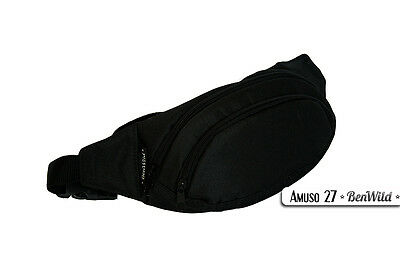 Erfinderisch Bauchtasche Schwarz Gürteltasche Futter Leckerlie Hüfttasche Amuso *neu*