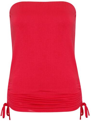 Womens Side Tie Boobtube Top Ladies Long Bandeau Tops Summer Crop Strapless Vest