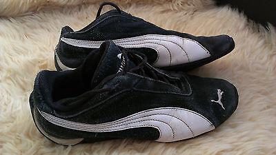 >                                         Puma > Sneaker Schuhe schwarz/weiß Gr. 34 UK 1 1/2 US 2 1/2 20,5 cm